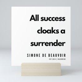 38      Simone De Beauvoir Quotes   190605 Mini Art Print