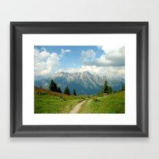 Mountain Range in Austria Framed Art Print