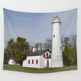 Sturgeon Point Lighthouse Wall Tapestry