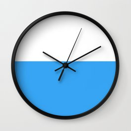 Blue Bottom Wall Clock