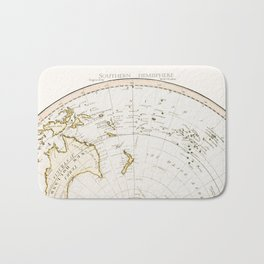 Southern Hemisphere - reproduction of William Faden's 1790 engraving Bath Mat