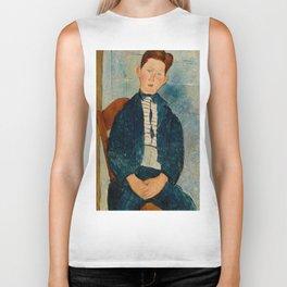 """Amedeo Modigliani """"Boy in a Striped Sweater"""" Biker Tank"""