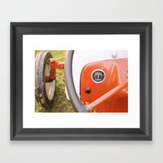 Caitlins Grandpas Tractor Framed Art Print