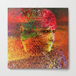 """ The beauty is the magnificence of the divine face. "" Metal Print"