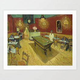 The Night Cafe by Vincent van Gogh Art Print
