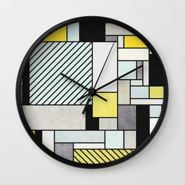 Colorful random pattern Wall Clock