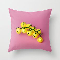 Tomatoes make me happy! Throw Pillow