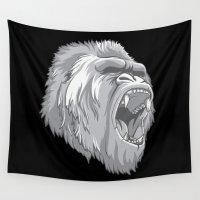 gorilla Wall Tapestries featuring Gorilla by Taranta Babu