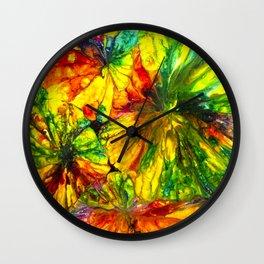 Fight or Flight ~ Adrenaline Crystals Under Polarized Light Wall Clock