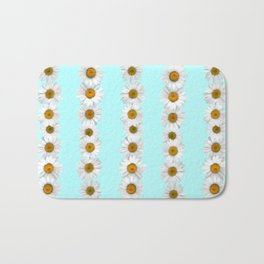 Daisy Chains on Bright Mint Bath Mat