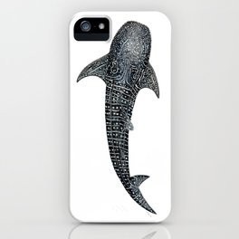 Whale shark for divers, shark lovers and fishermen iPhone Case