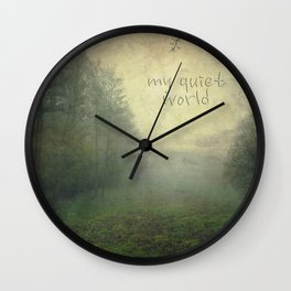 my quiet world typo Wall Clock
