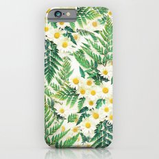 Textured Vintage Daisy and Fern Pattern  iPhone 6s Slim Case
