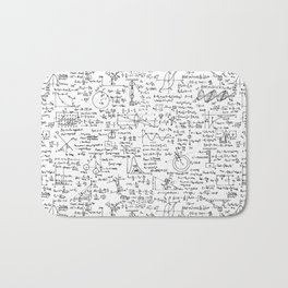 Physics Equations on Whiteboard Bath Mat