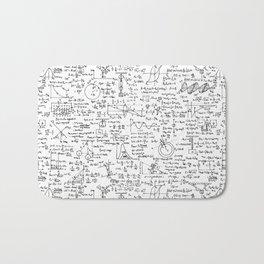 Physics Equations on Whiteboard Bath Mat