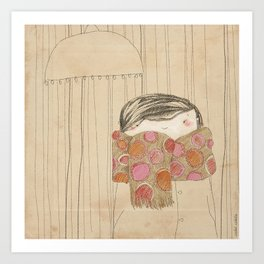 "Luisa. ""Bufandas"" Collection Art Print"