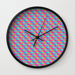 Islamic Pattern: Turquoise, Purple, Pink, Orange and Green Wall Clock
