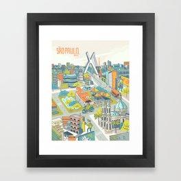 Sao Paulo Framed Art Print