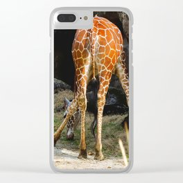 Baby Giraffe Butt Clear iPhone Case