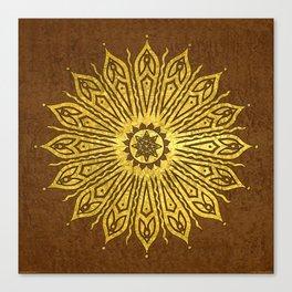 ozorahmi copper mandala Canvas Print