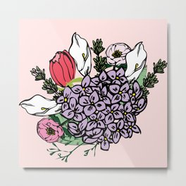 Bouquet bloom Metal Print