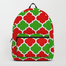 Christmas Domes - Red and Green Domes perfect for Christmas Home Decor Backpack