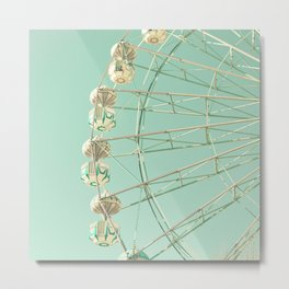 Winter Ferris Wheel  Metal Print