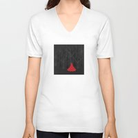 red hood V-neck T-shirts featuring Red Riding Hood by Imagonarium