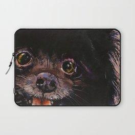 Black Pomeranian Laptop Sleeve