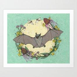 big brown bat. Art Print