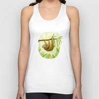 sloth Tank Tops featuring Sloth by Kirsten Sevig