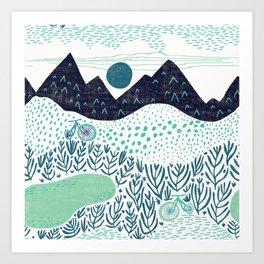 Mountain Biking - The Gravel Path Less Traveled Art Print