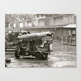 Tuk Tuk In The Rain Canvas Print