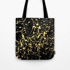 Splat Gold on Black Tote Bag