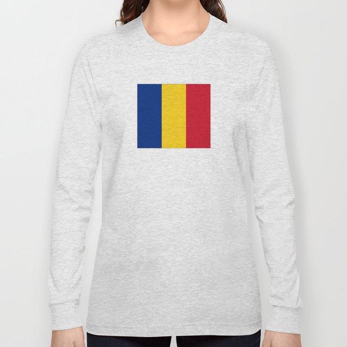 Flag of romania 3 -romania,romanian,balkan,bucharest,danube,romani,romana,bucuresti Long Sleeve T-shirt