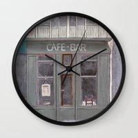 cafe Wall Clocks featuring Cafe by Patty Haberman