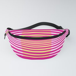 Illusions Abstract Pink & Yellow Fanny Pack