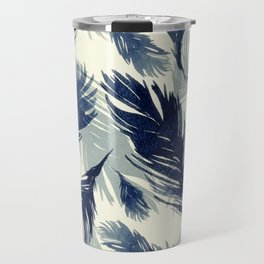 Black Feathers Travel Mug