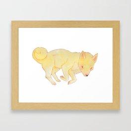 Sleepy Shiba Framed Art Print