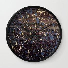 Splatter Painting Abstract, Blue, Purple, Pollack, Jodilynpaintings, Splatter Wall Clock