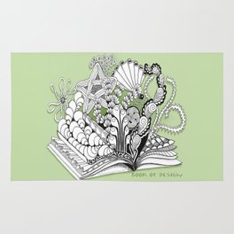 Book of Design - Zentangle Illustration for Children Rug