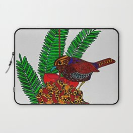 Little Bird In Evergreen Boughs Laptop Sleeve