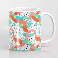 surrealism Mugs featuring Pop surrealism White by Evatania