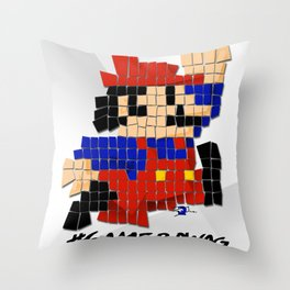 Pixel Mario Throw Pillow