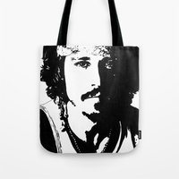 johnny depp Tote Bags featuring Johnny Depp by Jeanique van den Berg
