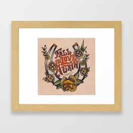 Fall in Love Again Framed Art Print
