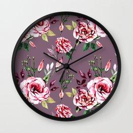 Lisianthus Pattern II Wall Clock