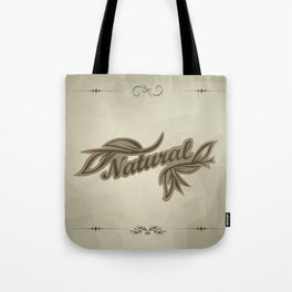 sticker badge with the inscription sheet and Natural. in natural colors Tote Bag