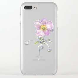 Anemone Waterclour Clear iPhone Case