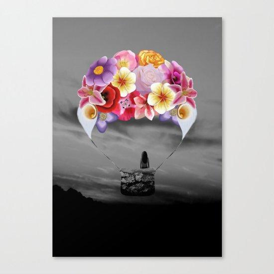 Floral Air Balloon Canvas Print